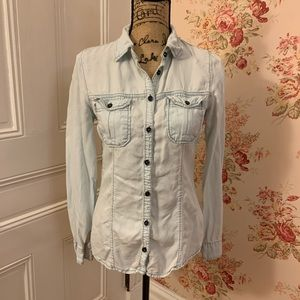 Maurice's Blue Jean Button Down Blouse